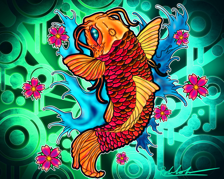 Coy Fish Wallpaper - WallpaperSafari