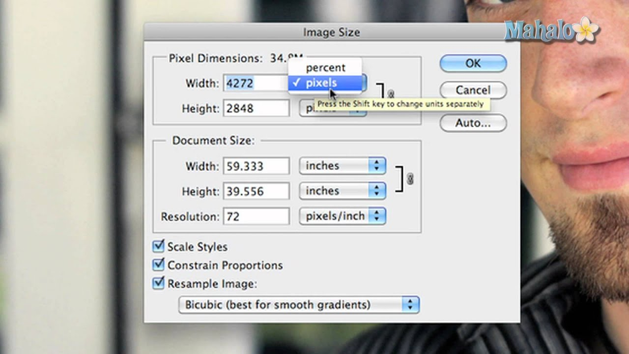 Learn Adobe Photoshop   Image Size Options 1280x720