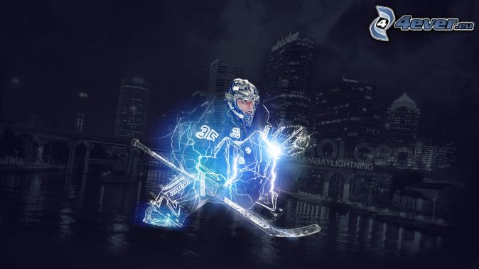 hockey player lightning Tampa Bay Lightning night city 674x379