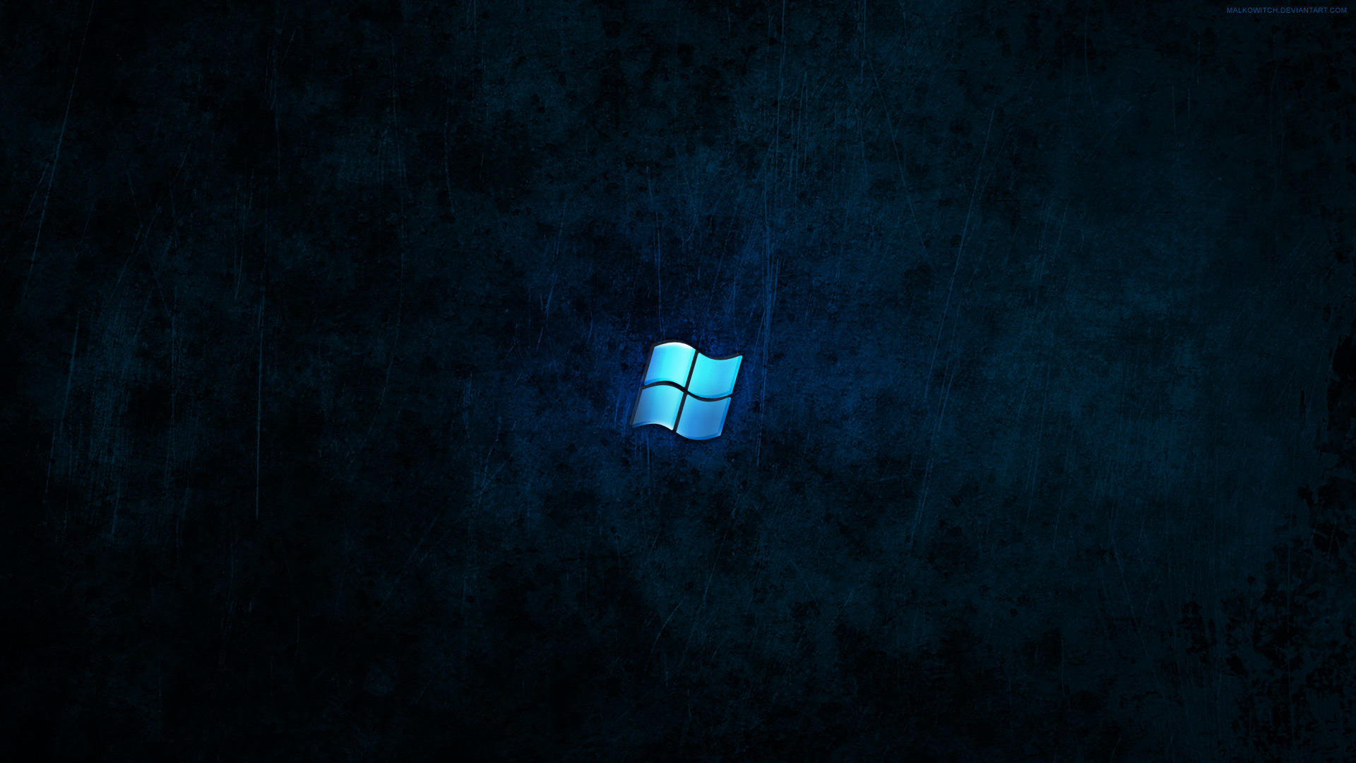 Windows Dark Blue Wallpaper by malkowitch 1920x1080