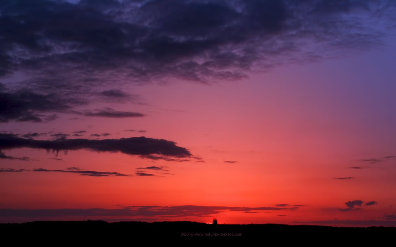 Deep Red and Purple Sky   Sunset Background   1280x800 pixels 1280x800