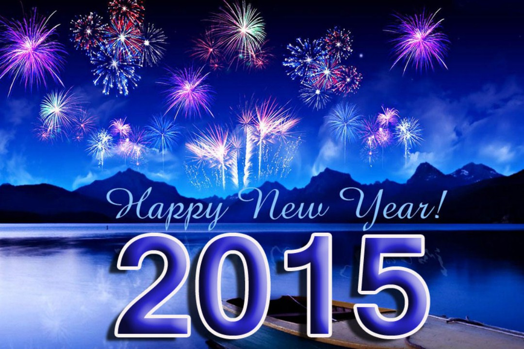 Beautiful Happy New Year 2015 HD Wallpapers For Desktop 1080x720