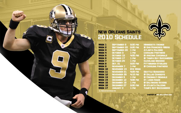 Saints LSU Schedule Wallpaper 600x375