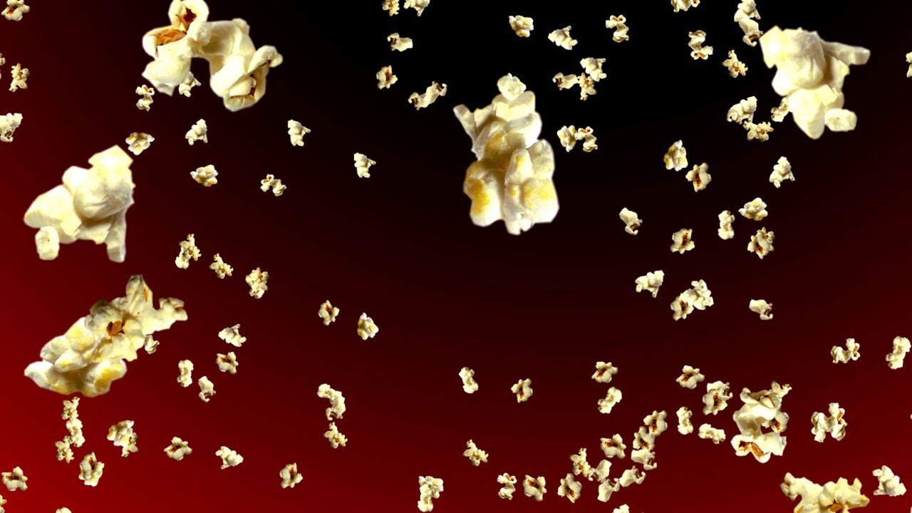 Exploding Popcorn Background 1280x720