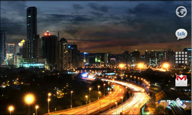 City at Night Android Live Wallpaper 629x377