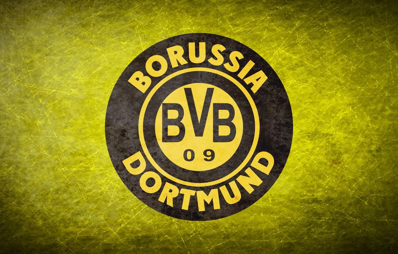 Wallpaper Yellow Logo Football Background Logo Borussia 1332x850