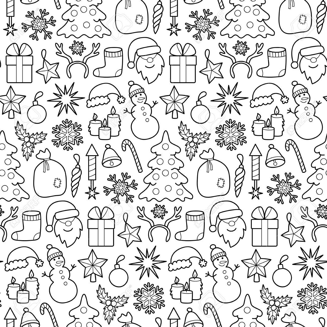Christmas Patch Seamless Pattern Pin Badges Set Stickers New 1300x1300