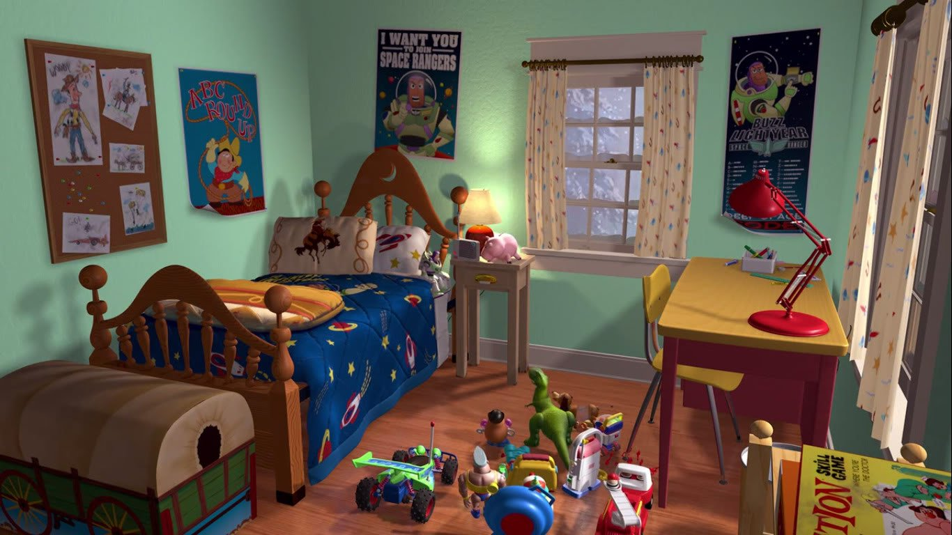 toy story andys room wallpaper in the original toy story html code