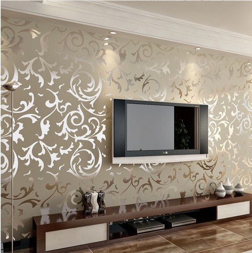 damask wallpaper roll Luxury leaf wall paper homes living room 512x513