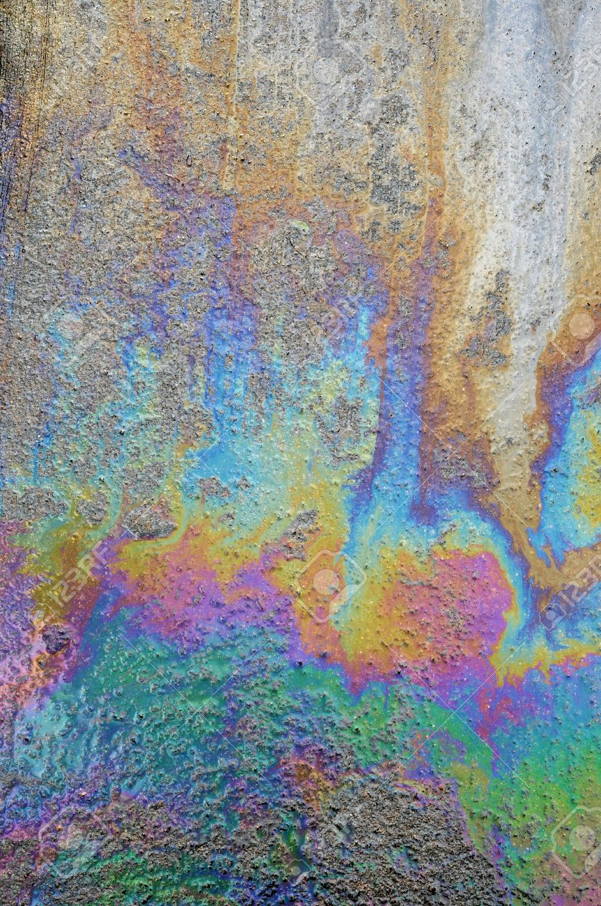 Oil Spill On Asphalt Road Background Or Texture Stock Photo 863x1300