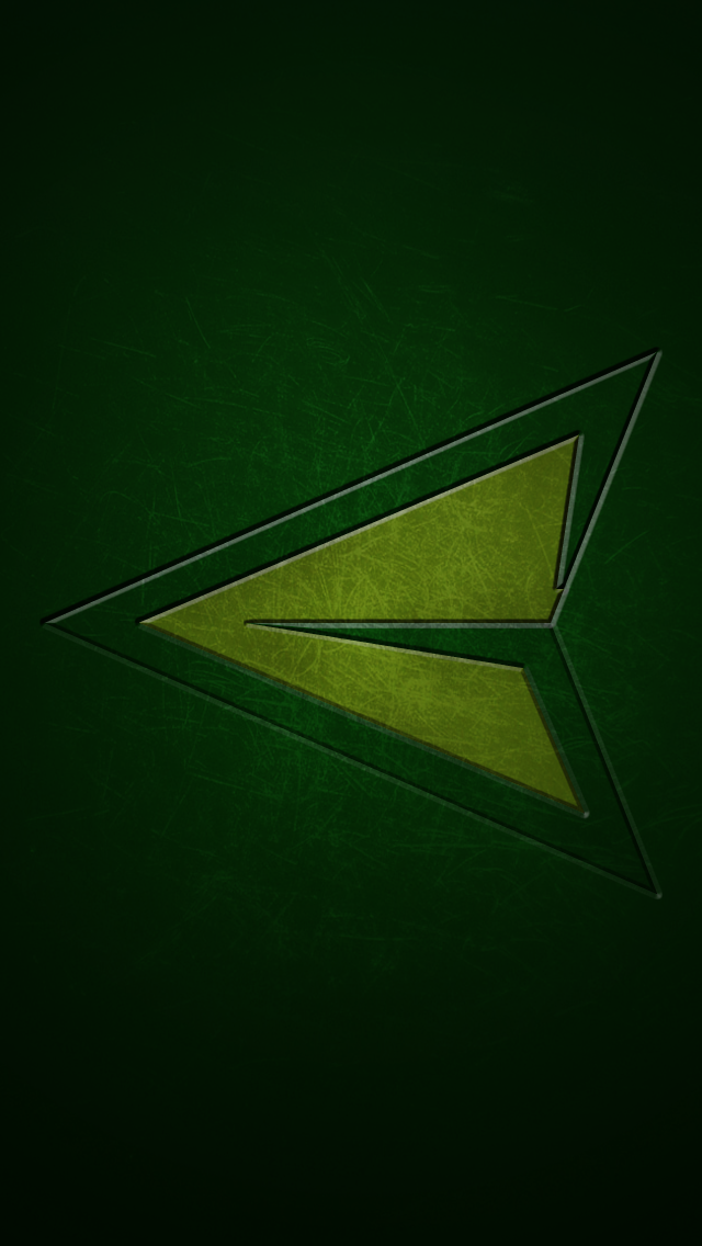 Green Arrow Logo Green arrow iphone 5 640x1136