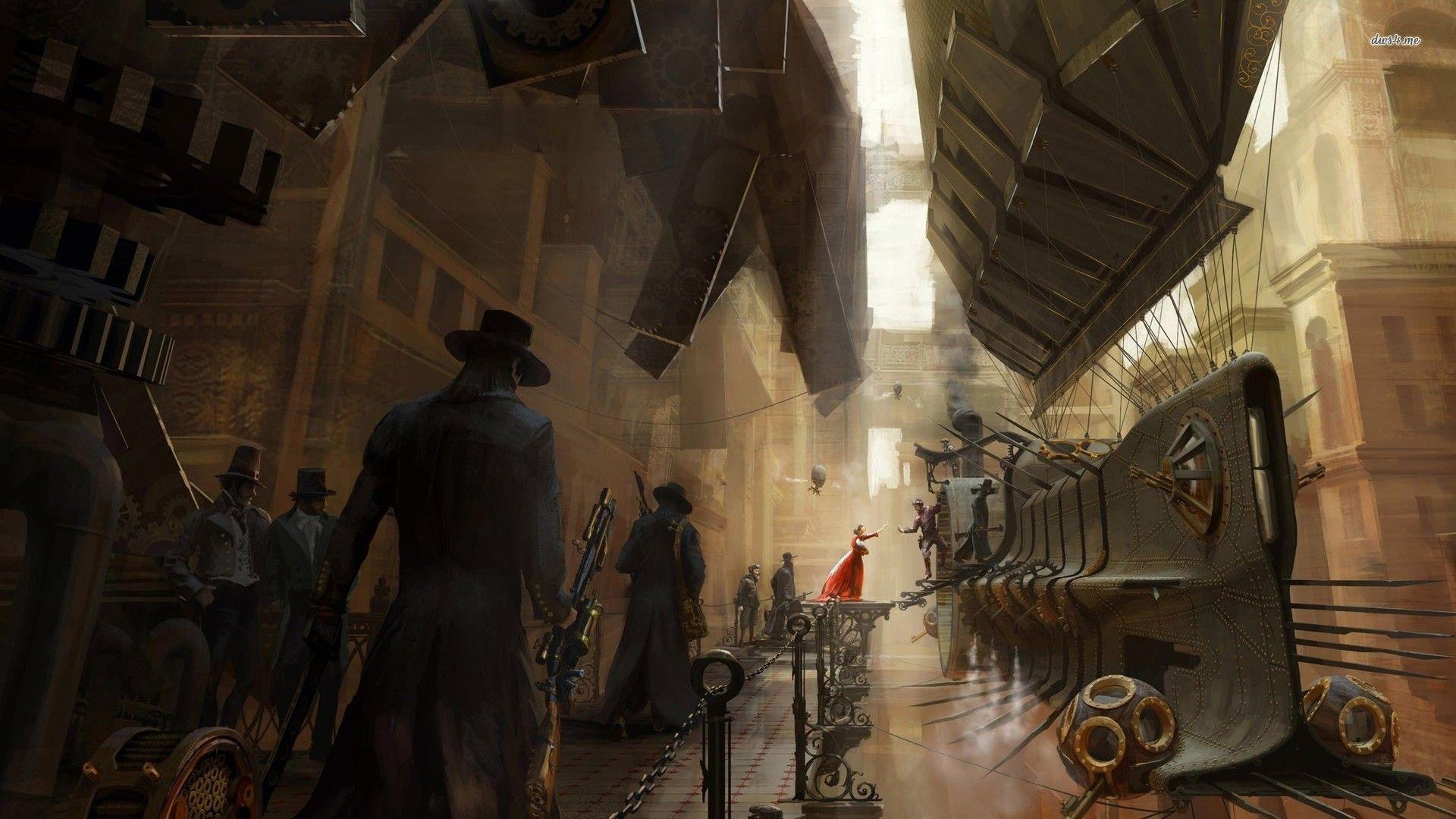 Steampunk City Wallpaper Hd Images amp Pictures   Becuo 1920x1080