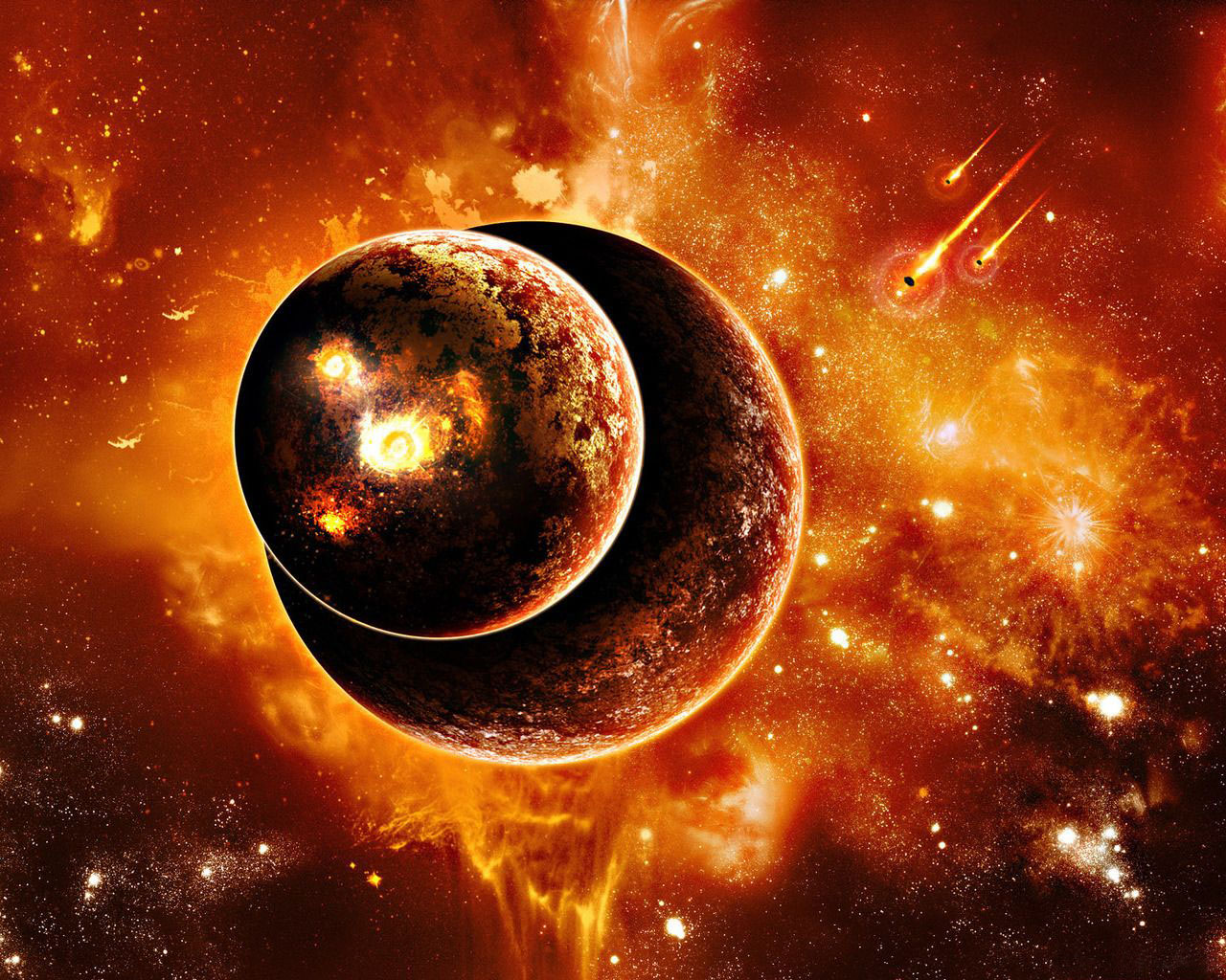 3d high quality galaxy planets very beautiful wallpaper for laptops 1280x1024