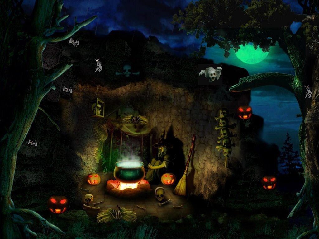 Free download Halloween Ghost Town Wallpapers [1024x768] for ...