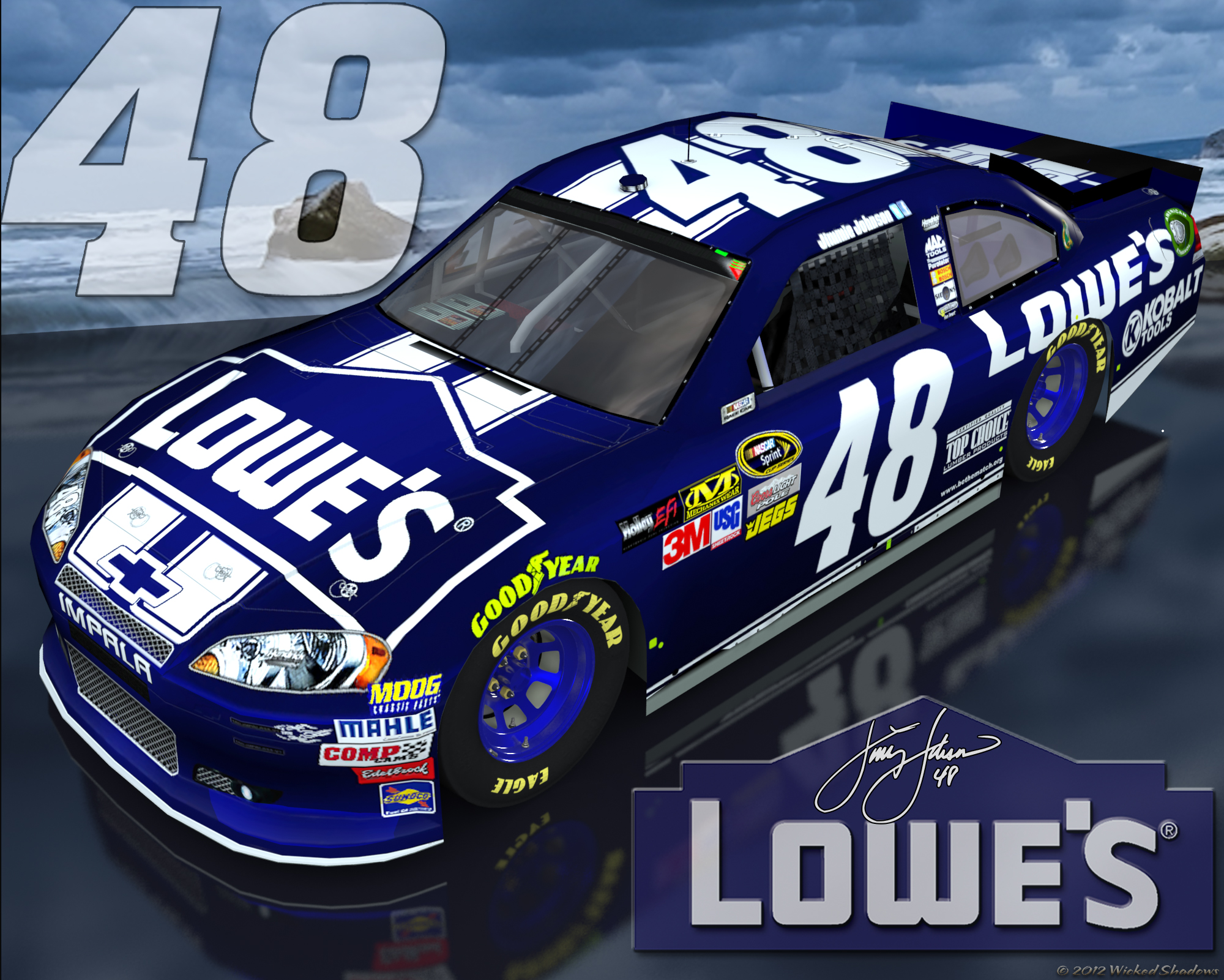 Jimmie Johnson Lowes 48 Brighter Outdoor Wallpaper 2000x1601