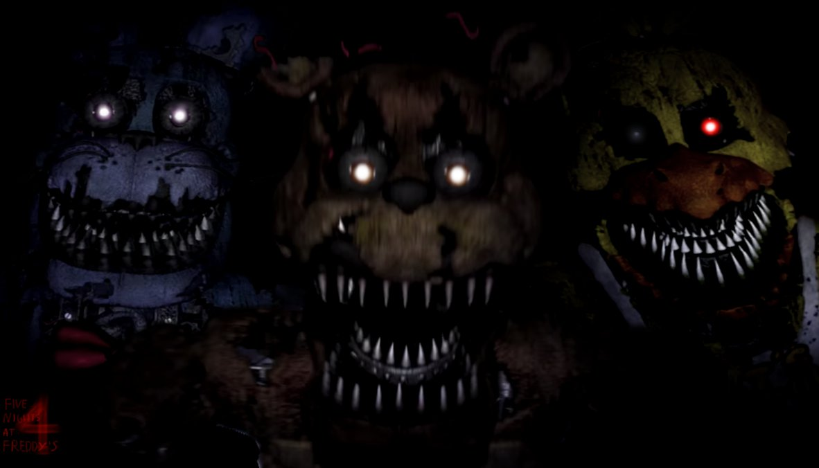 Foxy 4 F NaF Nightmare Fan Art 1182x676