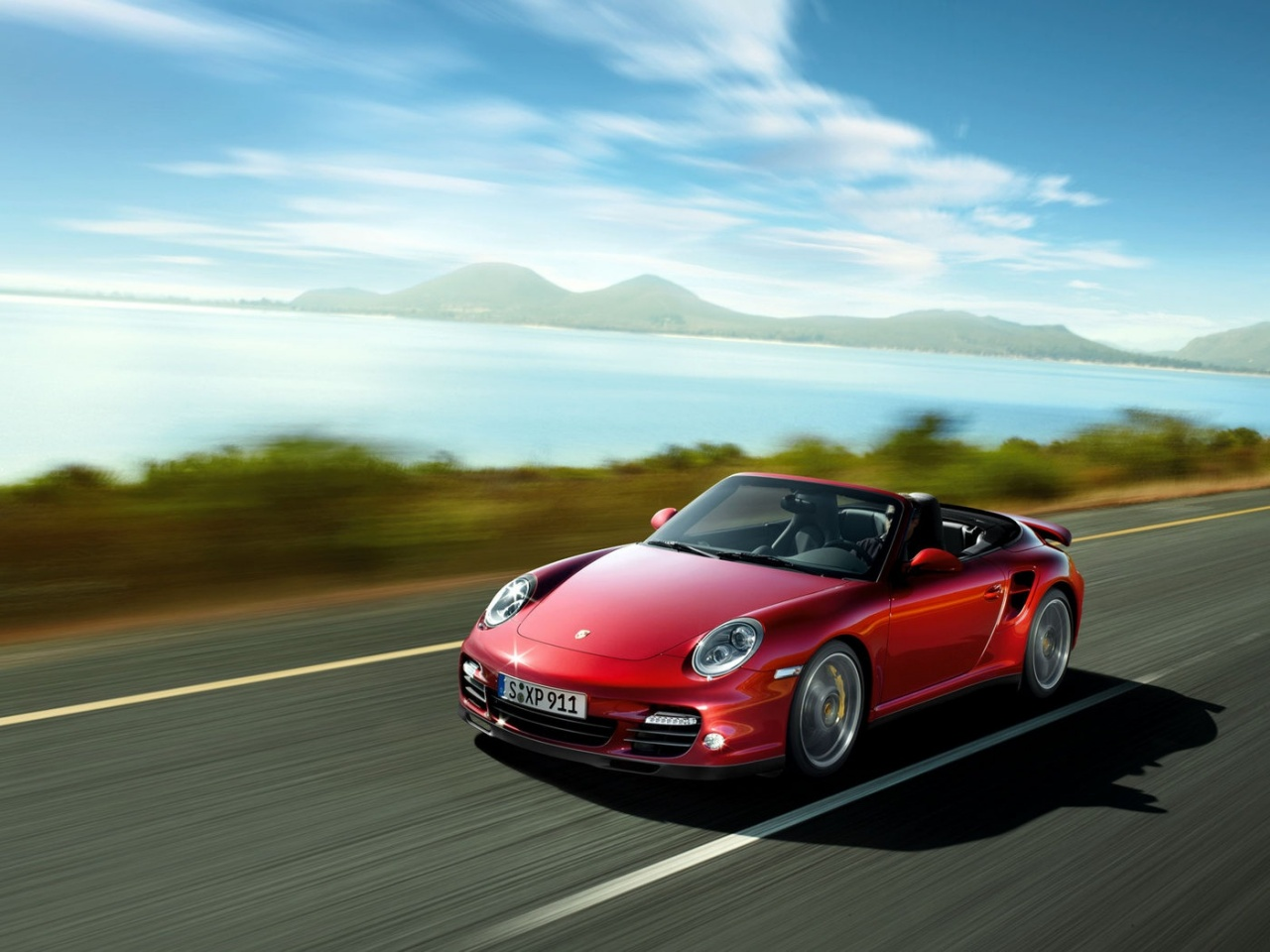 2007 <b>Porsche 911 Turbo</b> - Blue Side - <b>1280x960</b> - <b>Wallpaper</b>