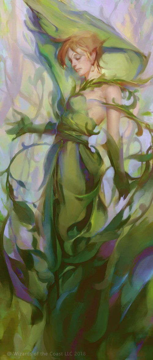 Song of Freyalise by Min Yum fantasy character Mtg art 500x1170