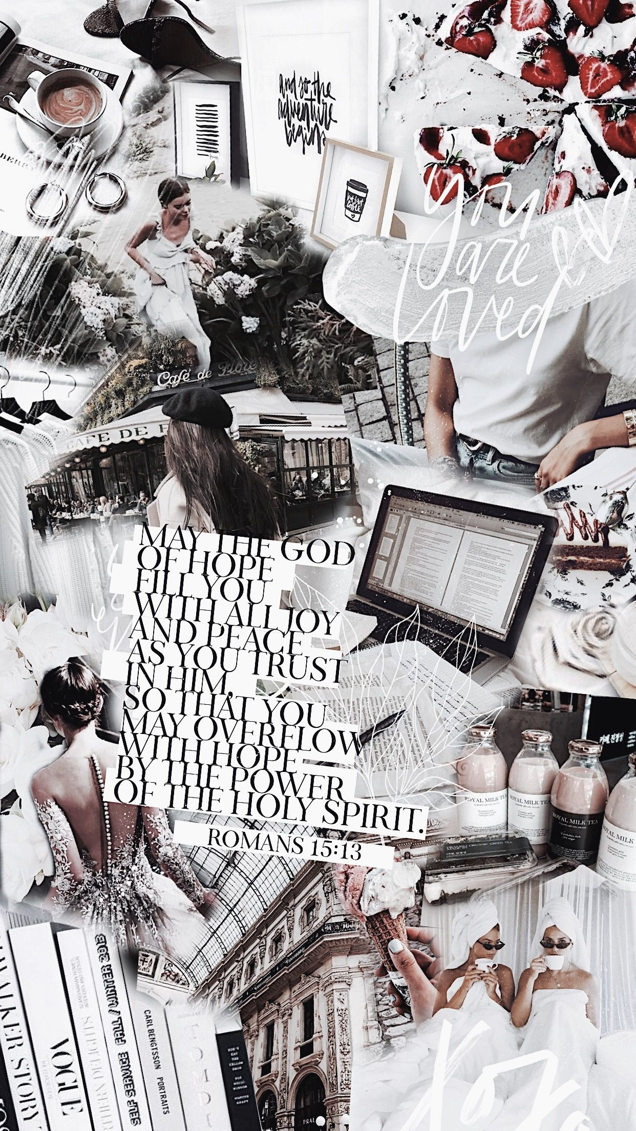 Free download white aesthetic x luxe collage wallpaper Aesthetic ...