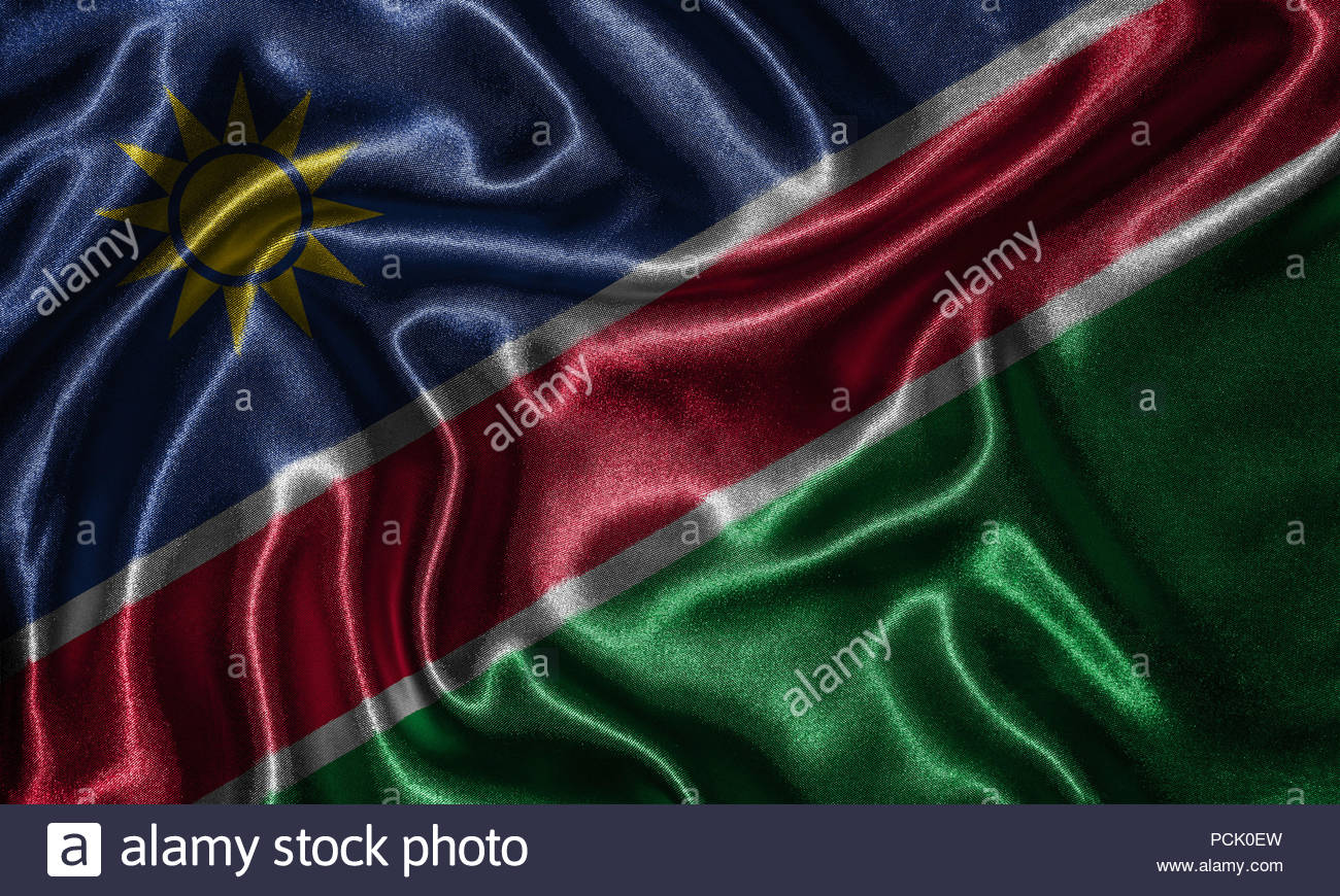 Namibia flag   Fabric flag of Namibia country Background and 1300x870