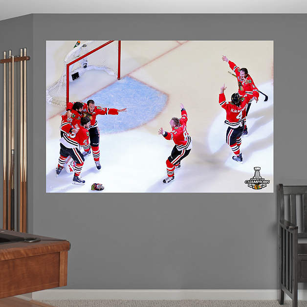 Chicago Blackhawks 2015 Stanley Cup Celebration Mural Fathead Wall 628x628