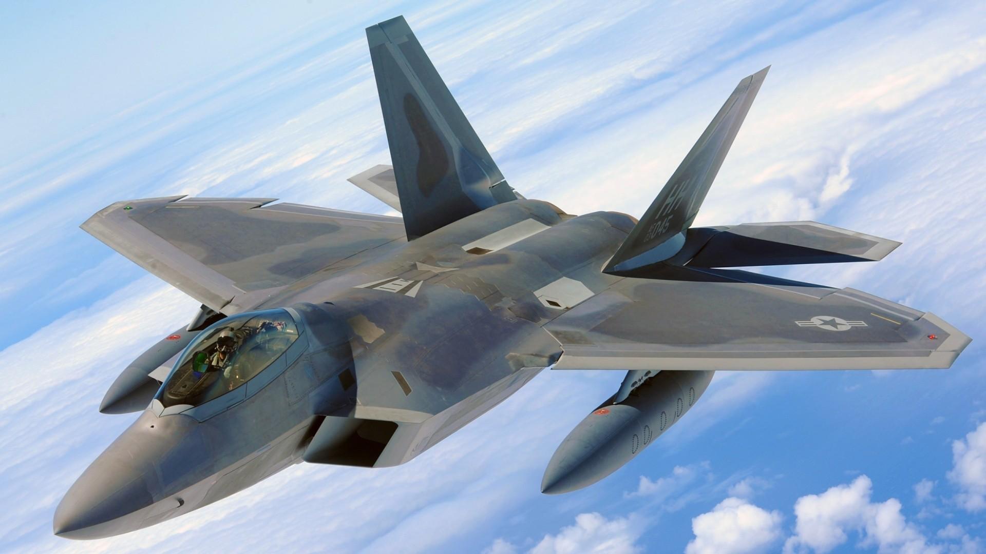 22 Raptor aircraft blue close up f 22 raptor sky 1920x1080
