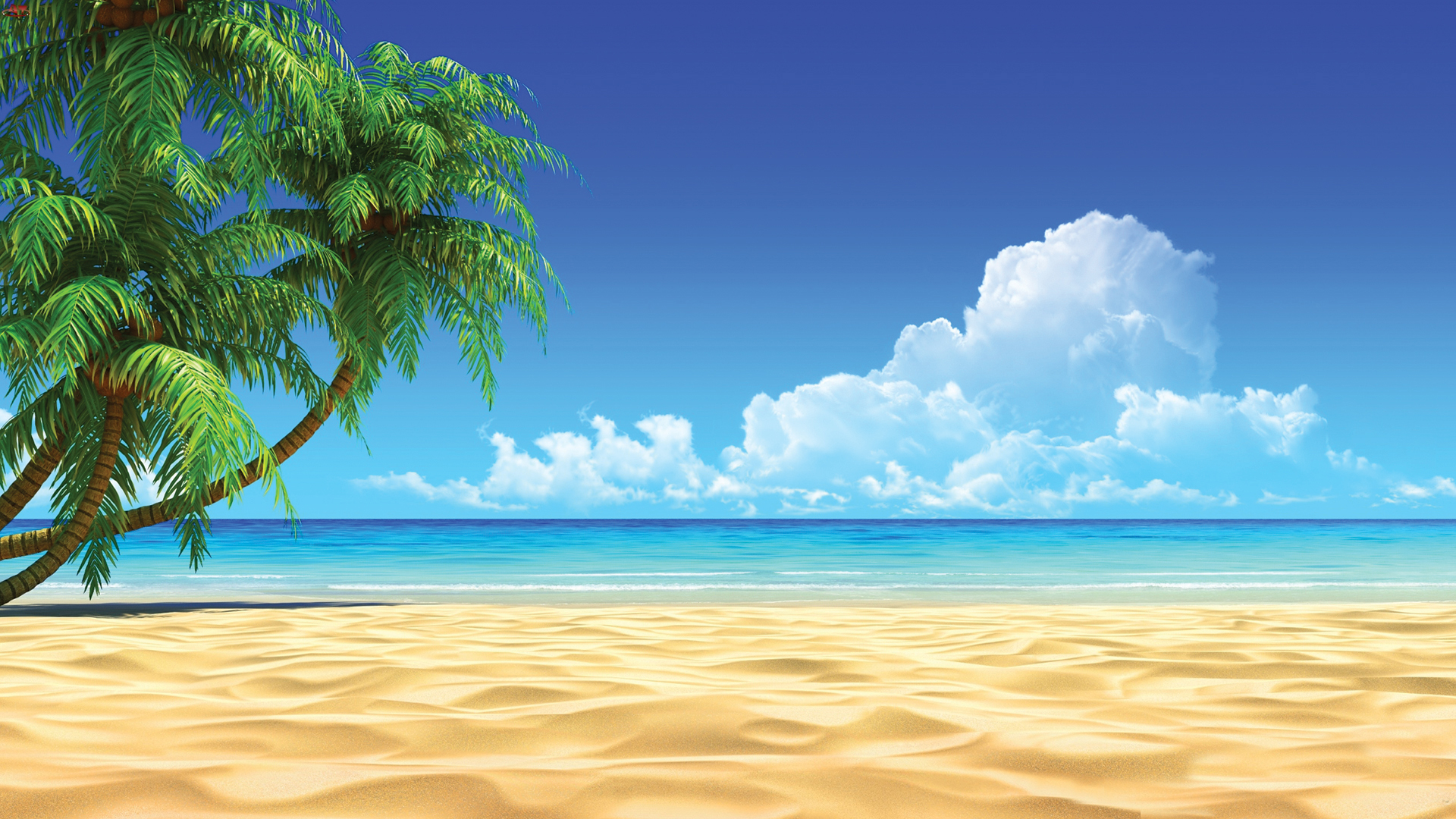 47+ Contoh Gambar Pemandangan Pantai Kartun