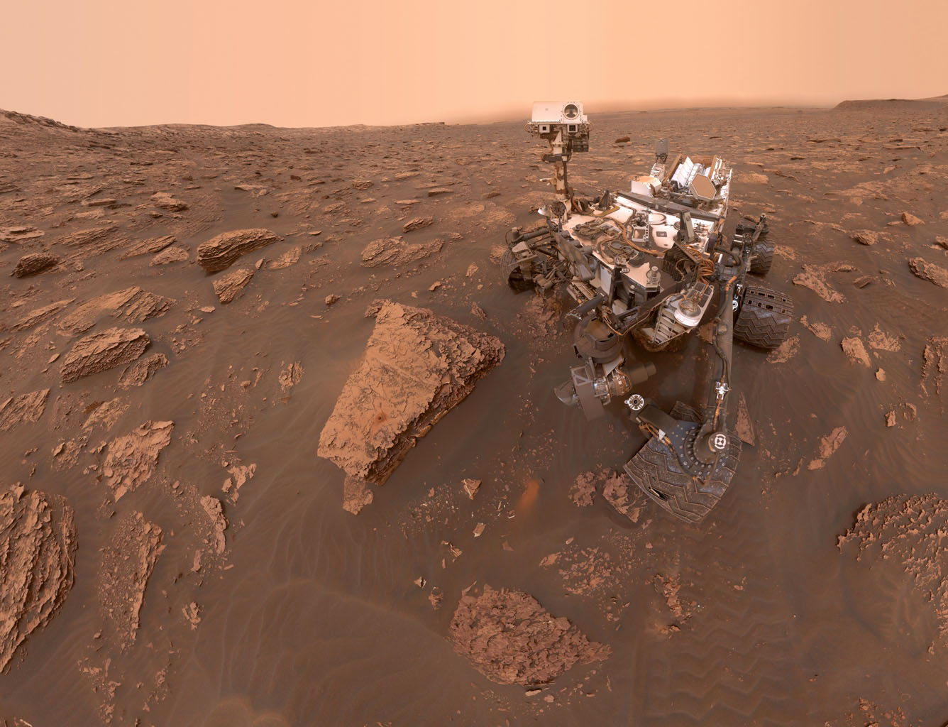Space Images Curiositys Dusty Selfie 1336x1024