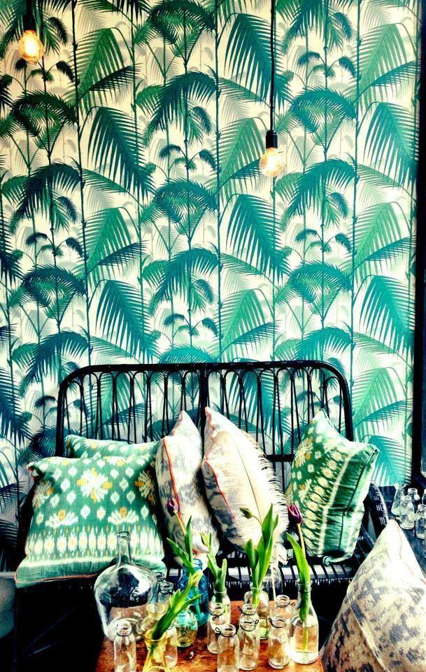 La fiebre y tendencia tropical Aloha tropical trend Palm Tree Print 609x960