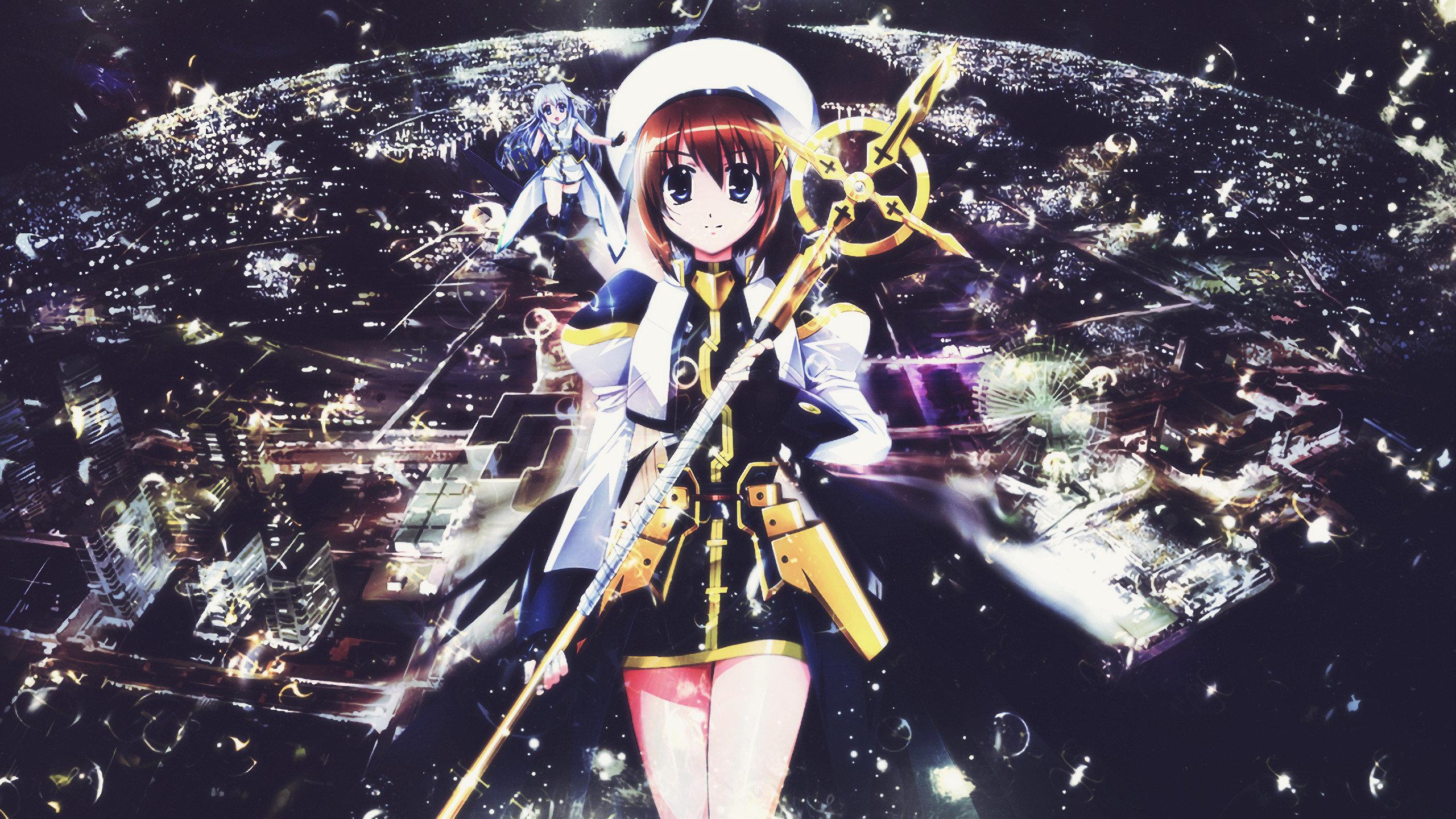 Magical Girl Lyrical Nanoha wallpapers 2560x1440 desktop backgrounds 2560x1440