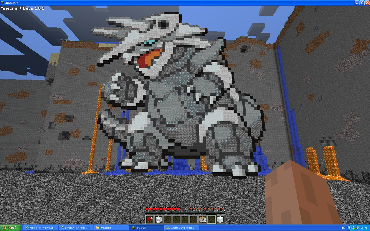 Aggron On Minecraft by Miccopicco 1280x800