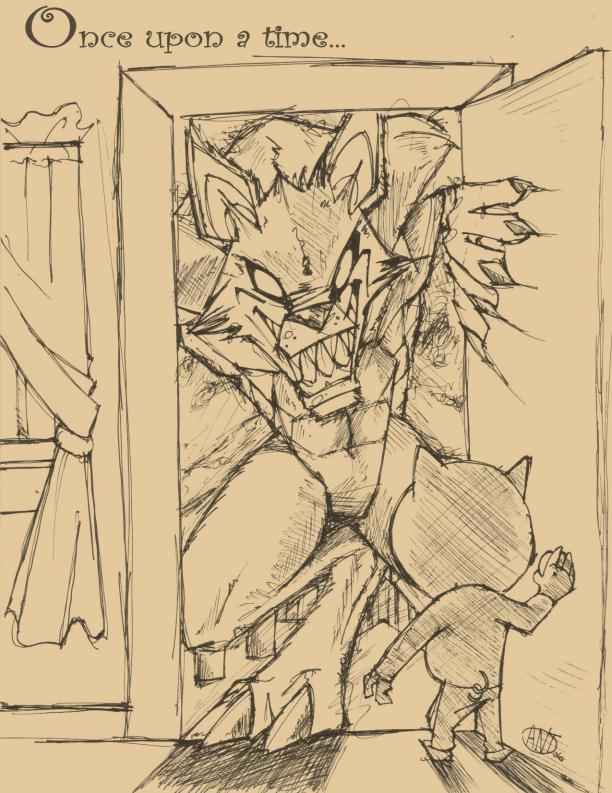 Big Badass Wolf by AntManTheMagnif 612x793
