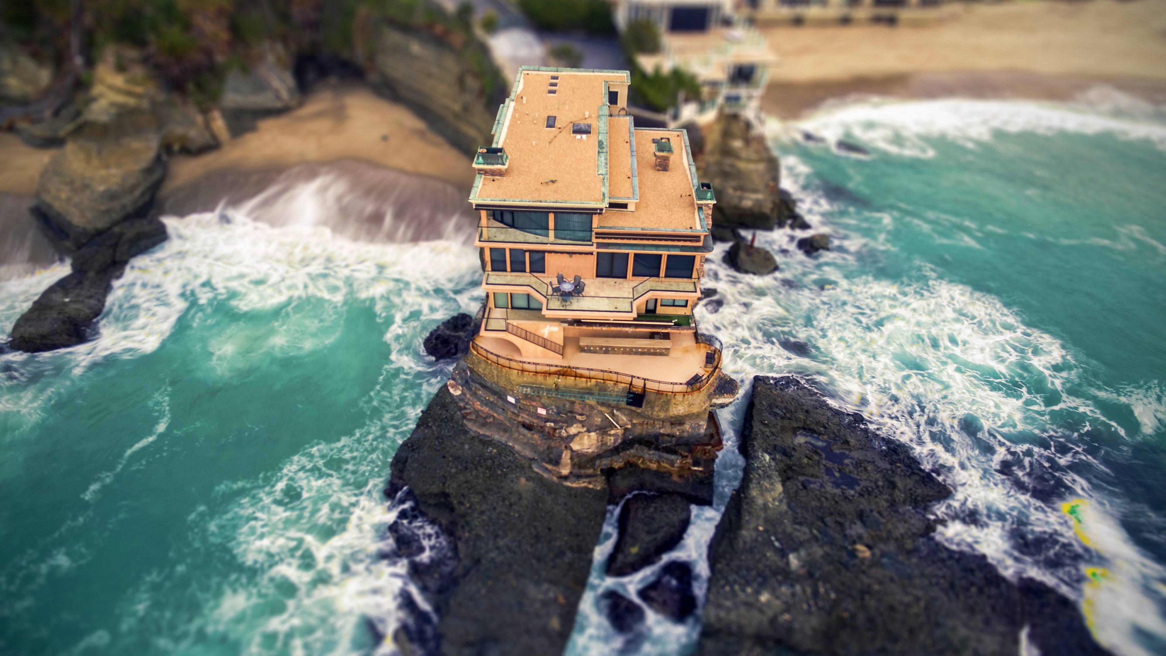 Beach House 4K wallpaper 3840x2160