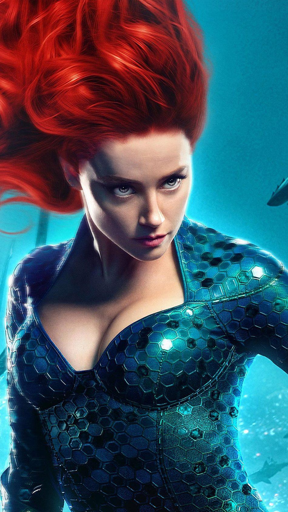 Download Amber Heard As Mera In Aquaman 2018 Pure 4K Ultra HD 950x1689