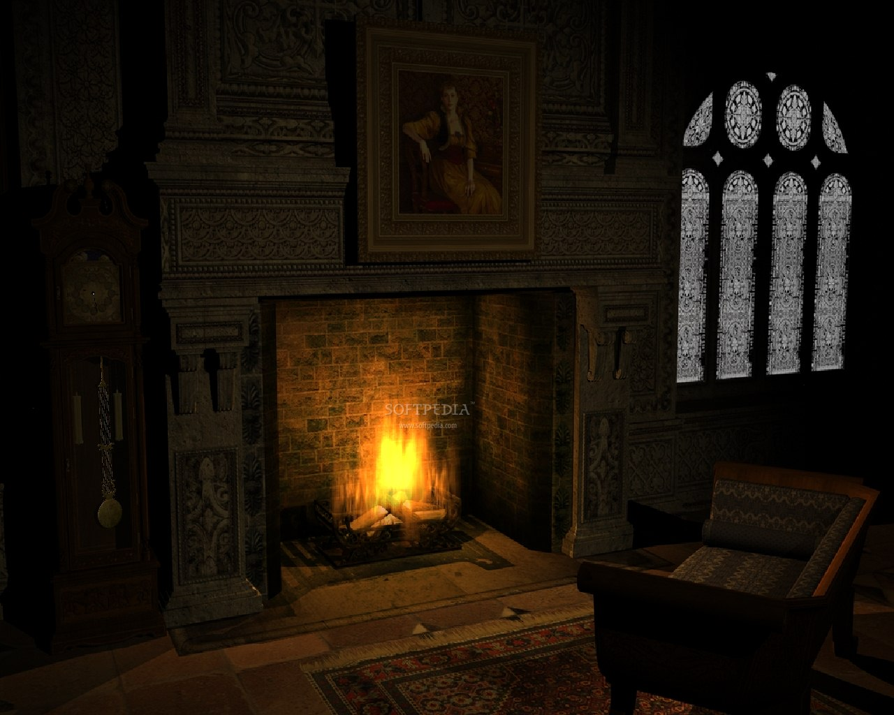 Old Fireplace   Animated Wallpaper   This is the image that will be 1280x1024