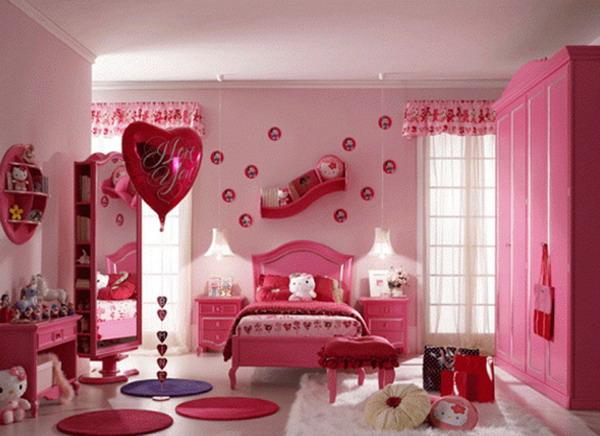 Buy Bedroom Wallpaper Designs Colorful Pink Girls Bedroom Wallpaper