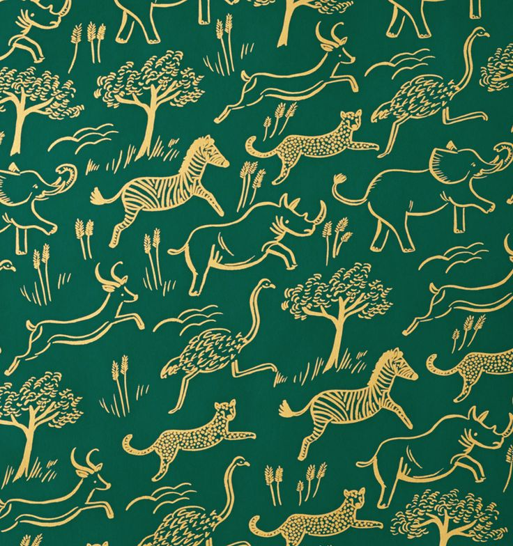 Safari wallpaper Rifle Paper Co Dreamy Pinterest 736x784