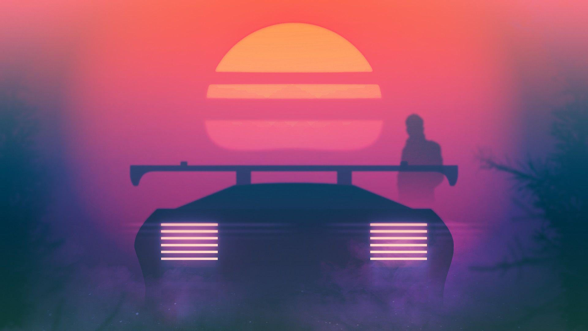 Journey [1920x1080] Retro waves Synthwave Retro futurism 1920x1080