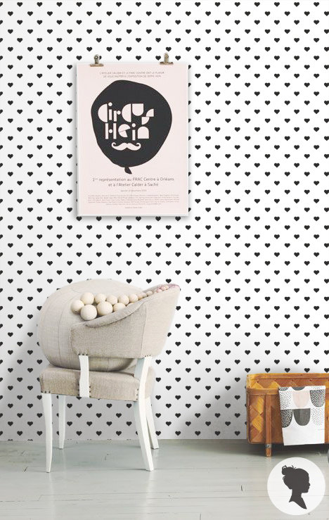 Peel and Stick Heart Pattern Removable Wallpaper L043 by Livettes 468x739