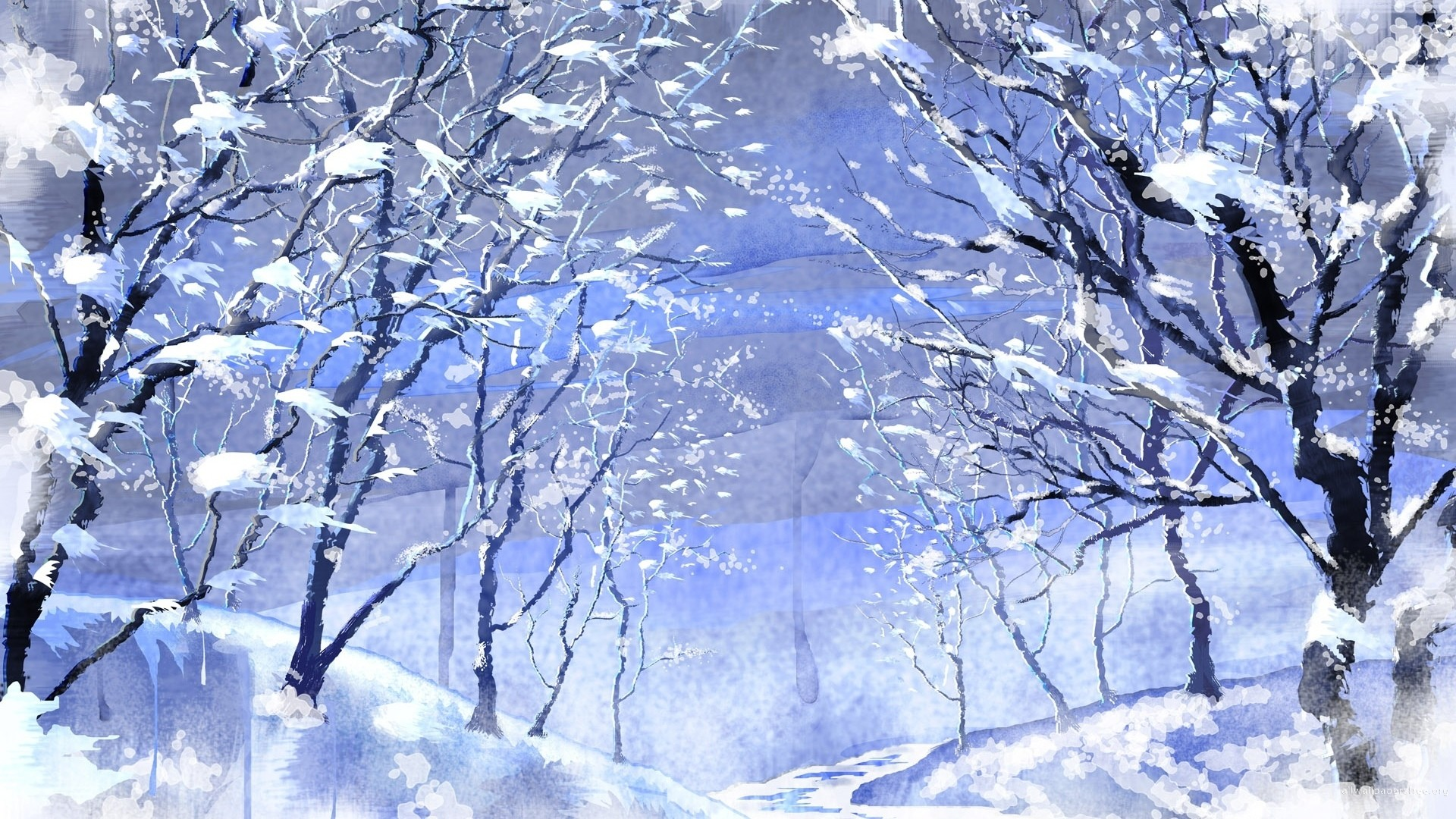 Christmas Winter Backgrounds 52 images 1920x1080