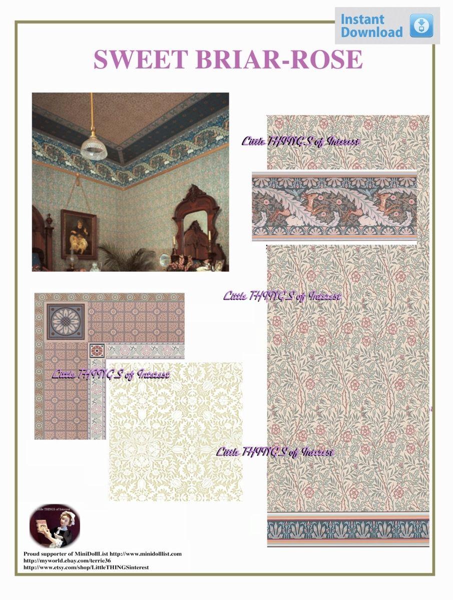 Printable Dollhouse Wallpaper Border 905x1200
