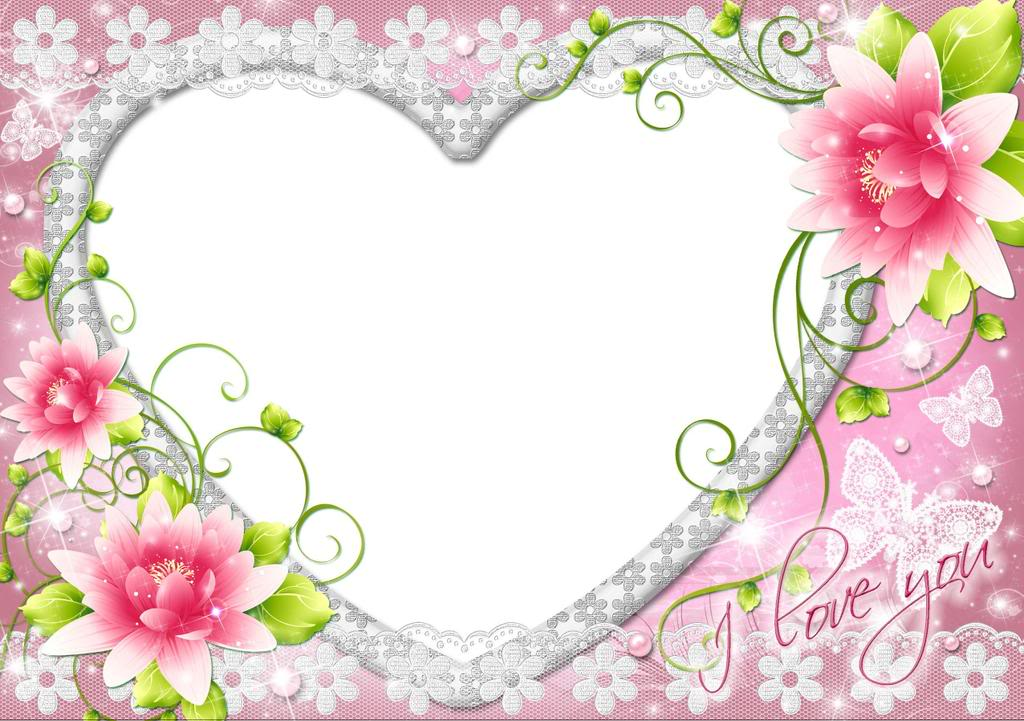 heart shaped i love you frame in pink for pictures images or photoshop 1024x721