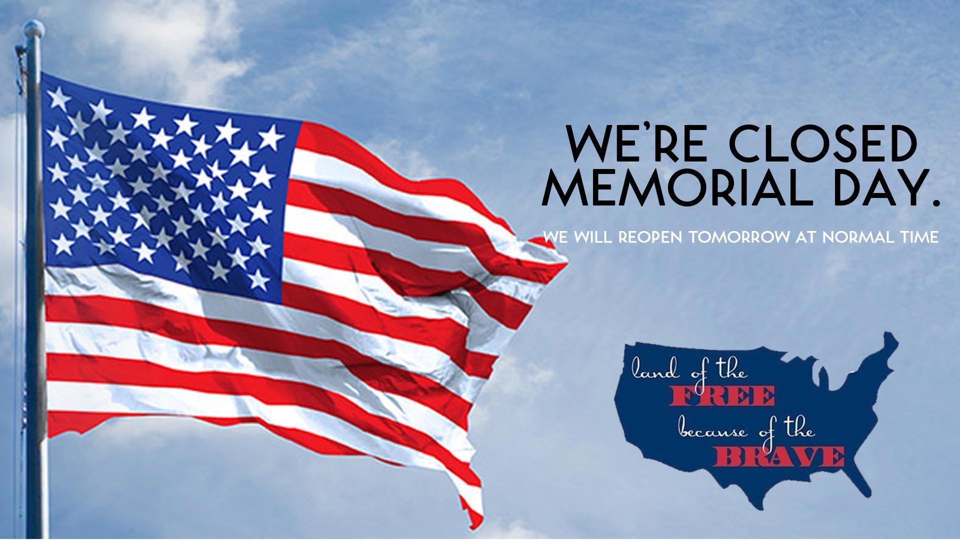 CLOSED Memorial Day 1920x1080
