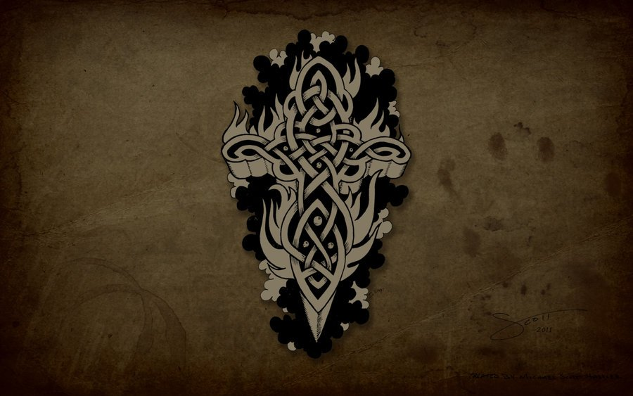 Celtic Cross Wallpaper Celtic cross by hassified 900x563