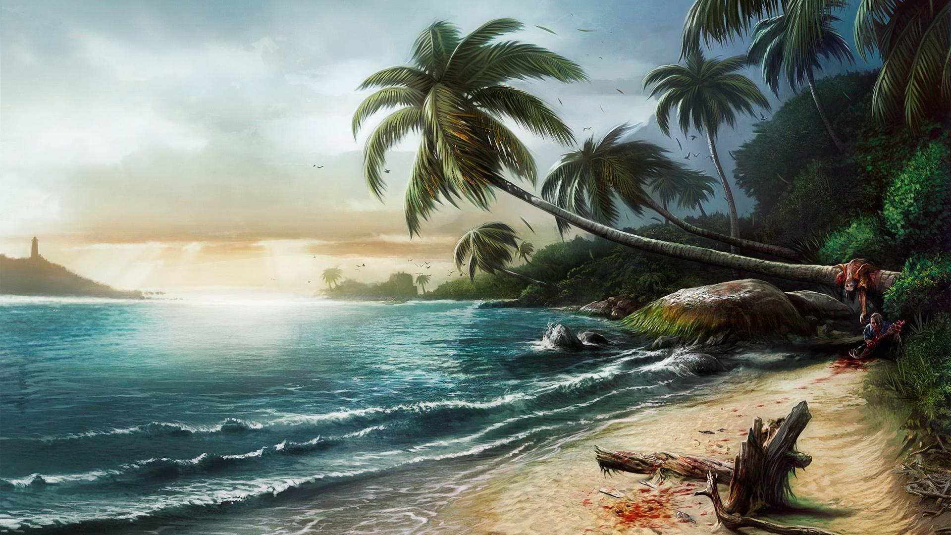 Fondo: Dibujo Playa Dead Island HD | Fondobook