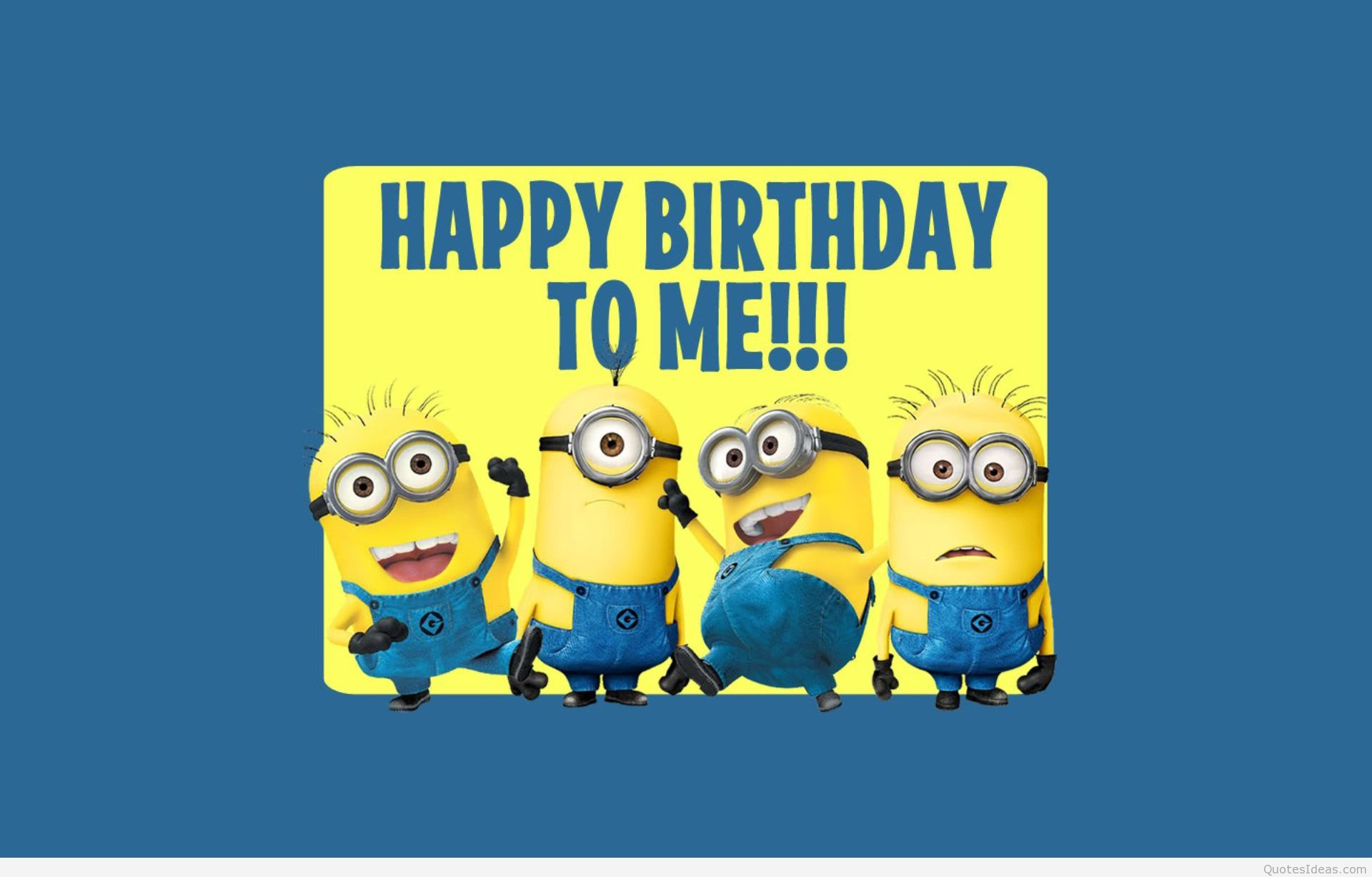Minions backgrounds quotes and images Happy Birthday Minion 1920x1227