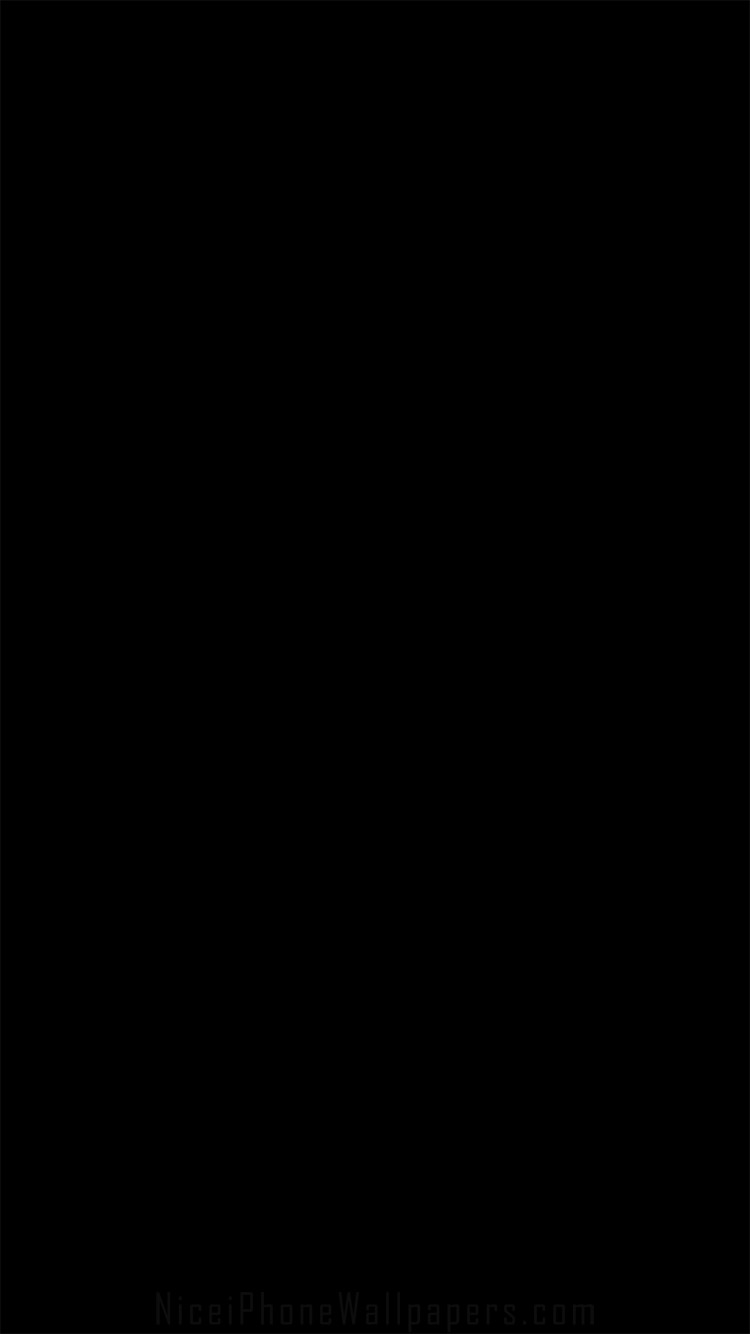 Pure black iPhone 66 plus wallpaper and background 750x1334