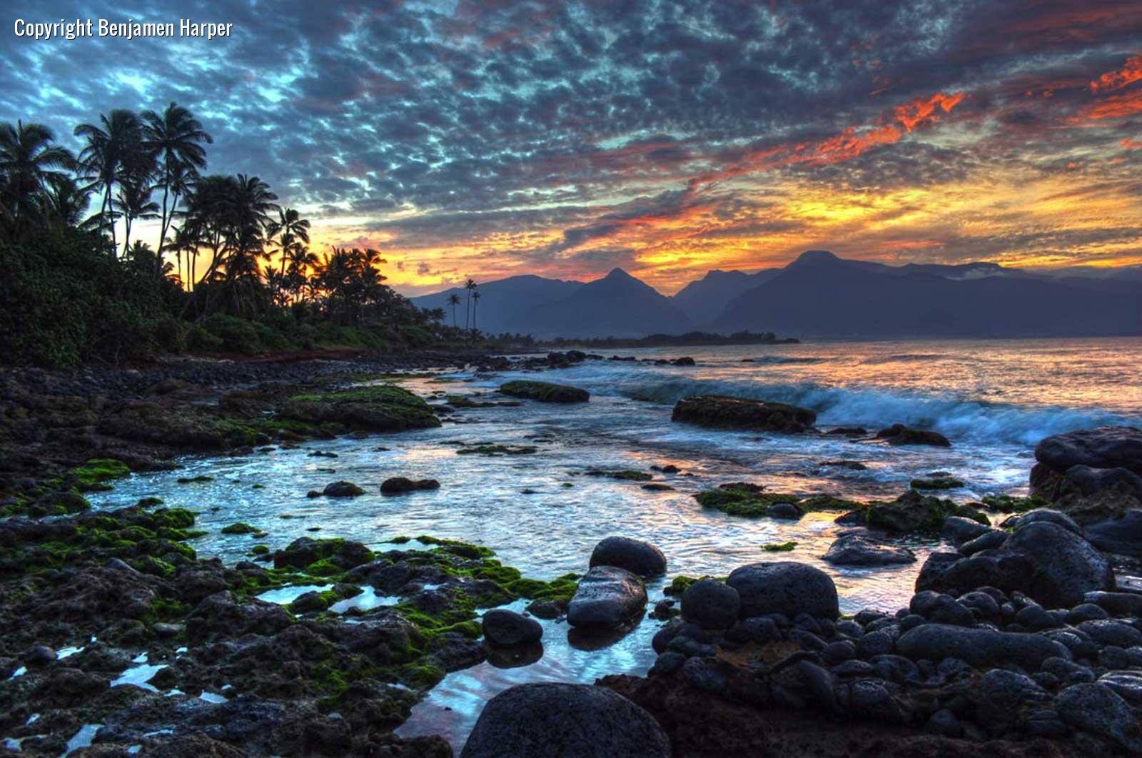 Maui Beach Sunset Wallpaper - WallpaperSafari