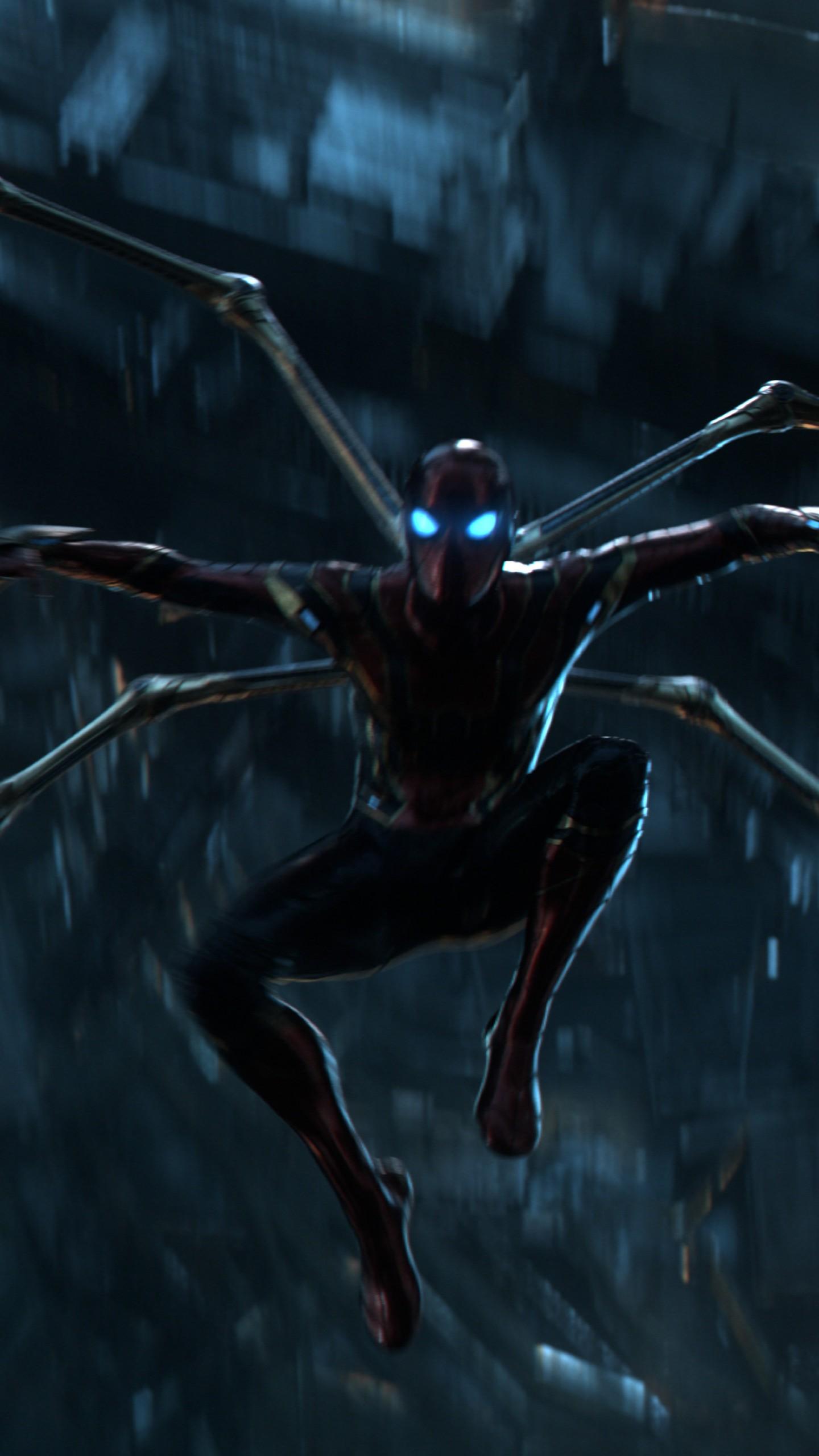 26 Iron Spider Infinity War Wallpapers On Wallpapersafari