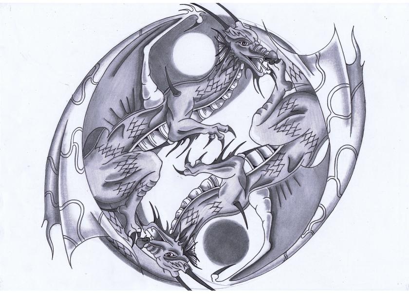 Dragon Yin Yang Wallpaper - WallpaperSafari